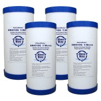 Four 4.5 x 10 Inch Whirlpool WHKF-GD25BB Compatible Water Filters
