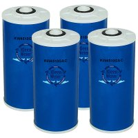 Four 4.5 x 10 Inch Granular Activated Carbon Water Filter Cartridges