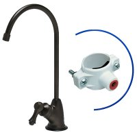 Oil Rubbed Bronze Air Gap Faucet - European Style - Reverse Osmosis